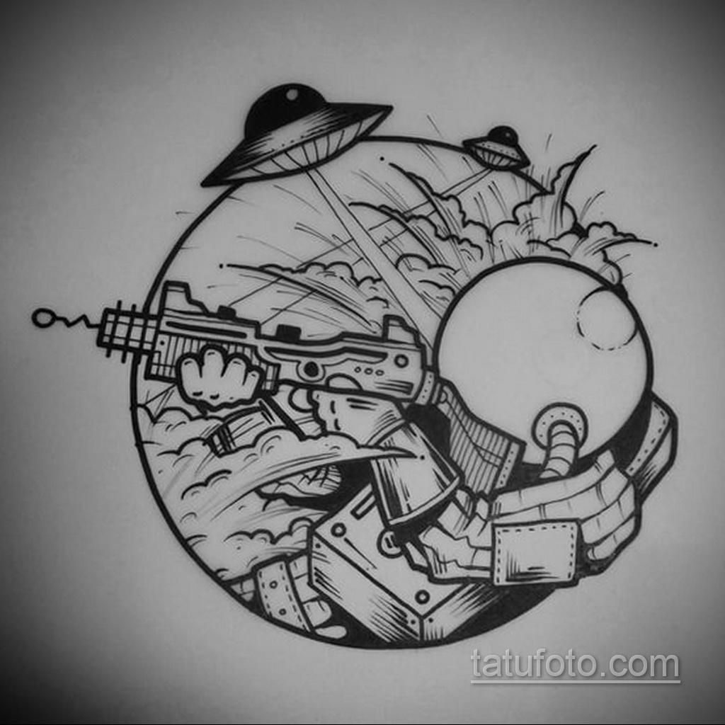 Фото пример классного эскиза для тату 05.09.2020 №043 -tattoo sketch- tatufoto.com