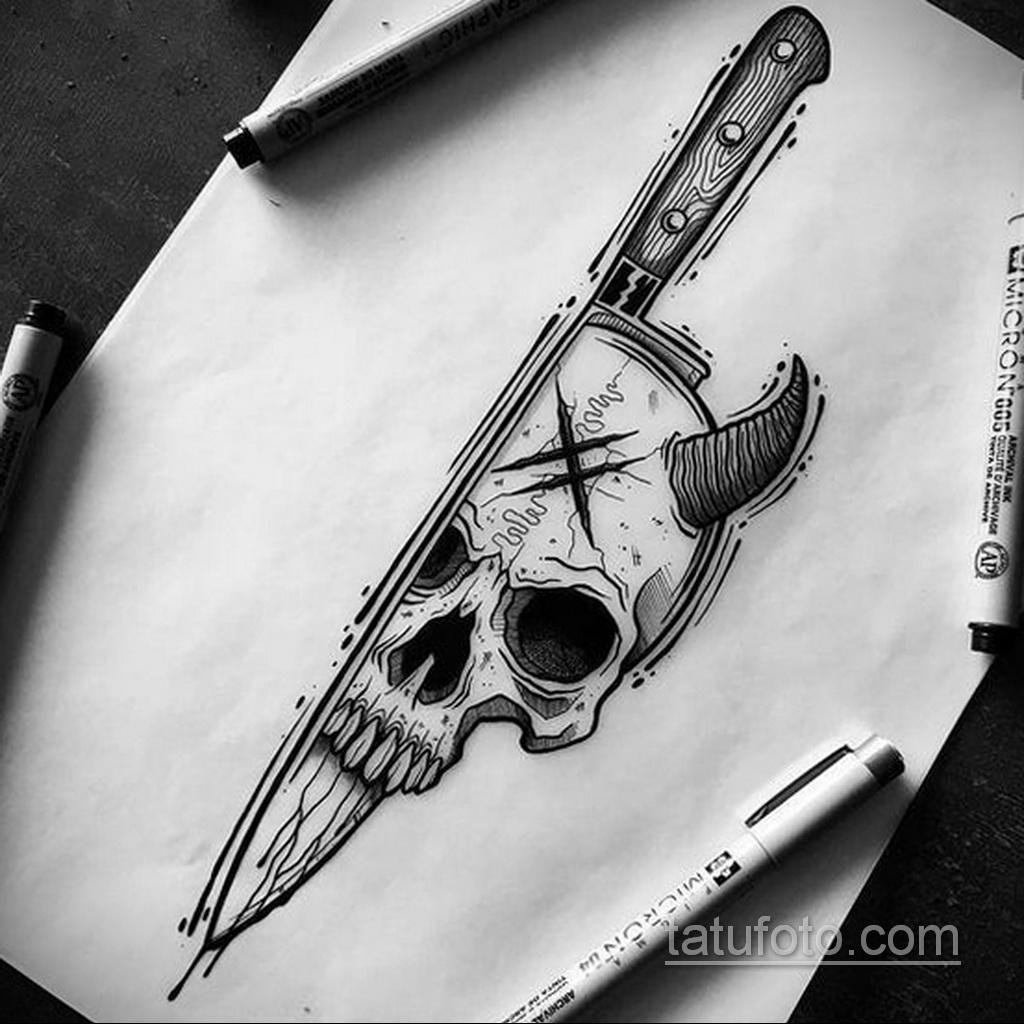 Фото пример классного эскиза для тату 05.09.2020 №047 -tattoo sketch- tatufoto.com