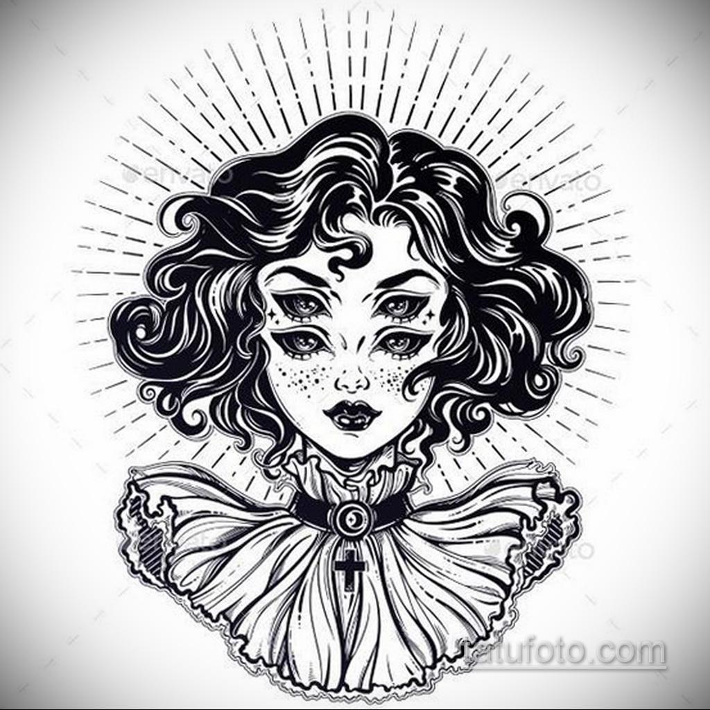 Фото пример классного эскиза для тату 05.09.2020 №053 -tattoo sketch- tatufoto.com