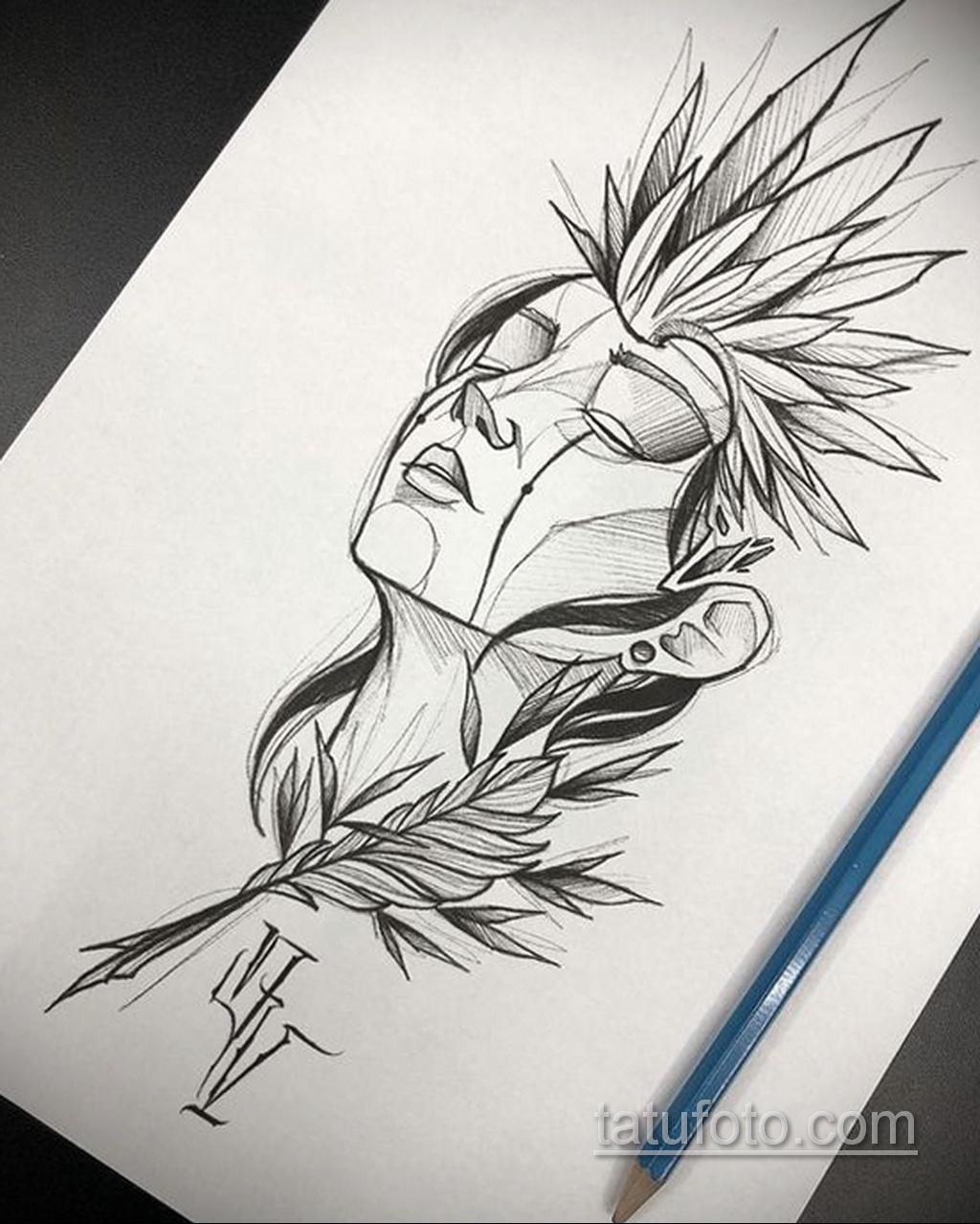 Фото пример классного эскиза для тату 05.09.2020 №056 -tattoo sketch- tatufoto.com