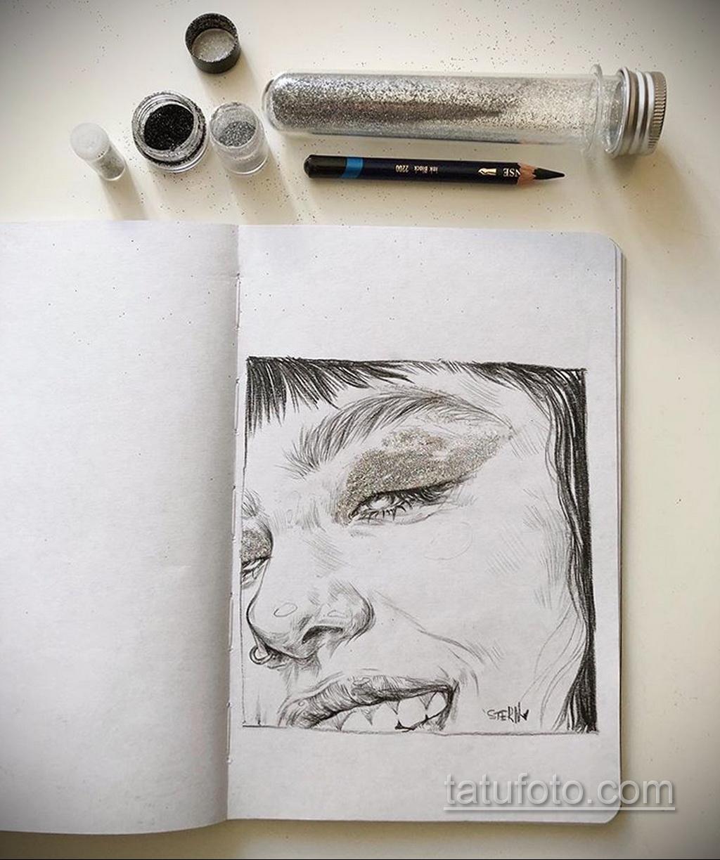 Фото пример классного эскиза для тату 05.09.2020 №067 -tattoo sketch- tatufoto.com