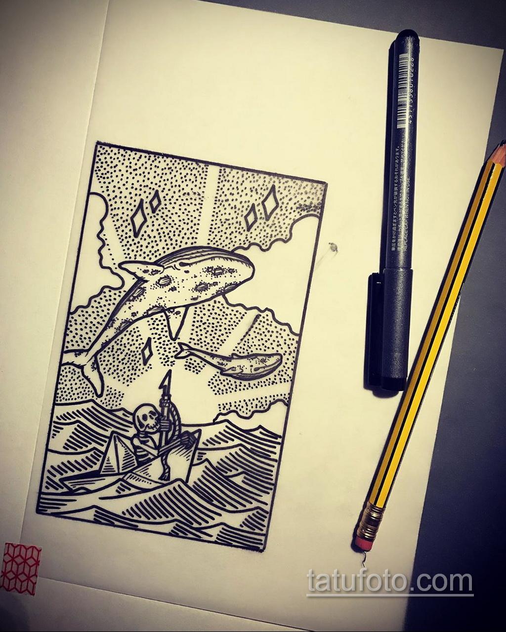 Фото пример классного эскиза для тату 05.09.2020 №068 -tattoo sketch- tatufoto.com