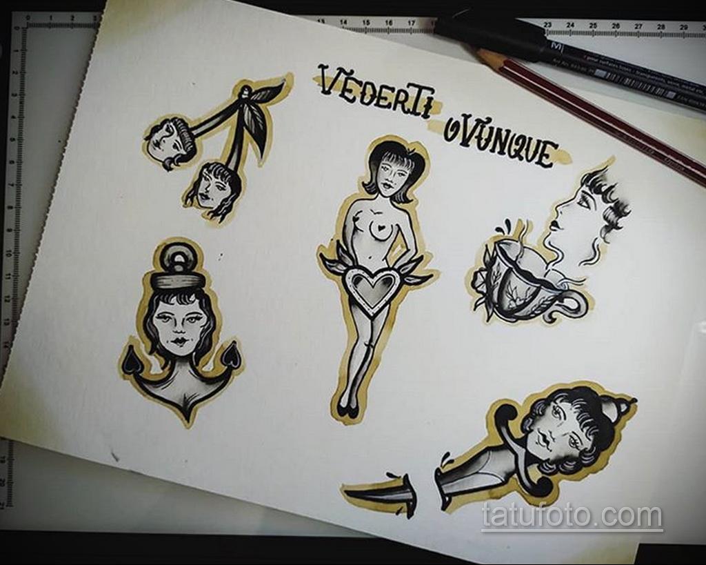 Фото пример классного эскиза для тату 05.09.2020 №072 -tattoo sketch- tatufoto.com