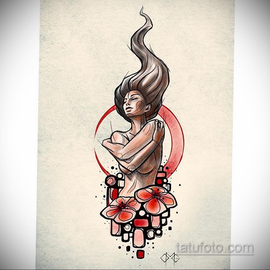 Фото пример классного эскиза для тату 05.09.2020 №075 -tattoo sketch- tatufoto.com