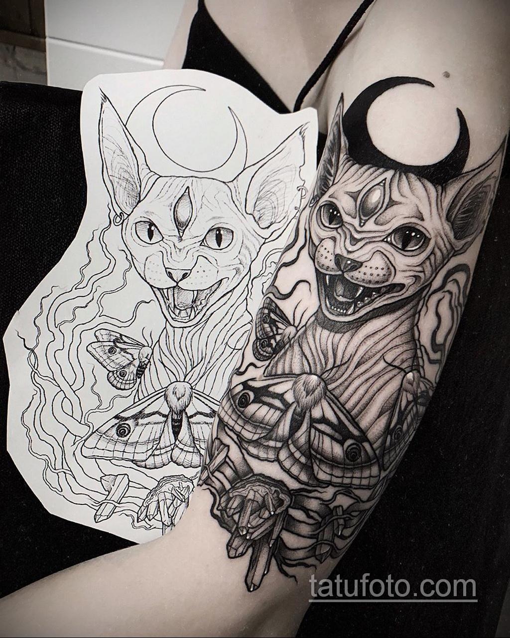 Фото пример классного эскиза для тату 05.09.2020 №078 -tattoo sketch- tatufoto.com