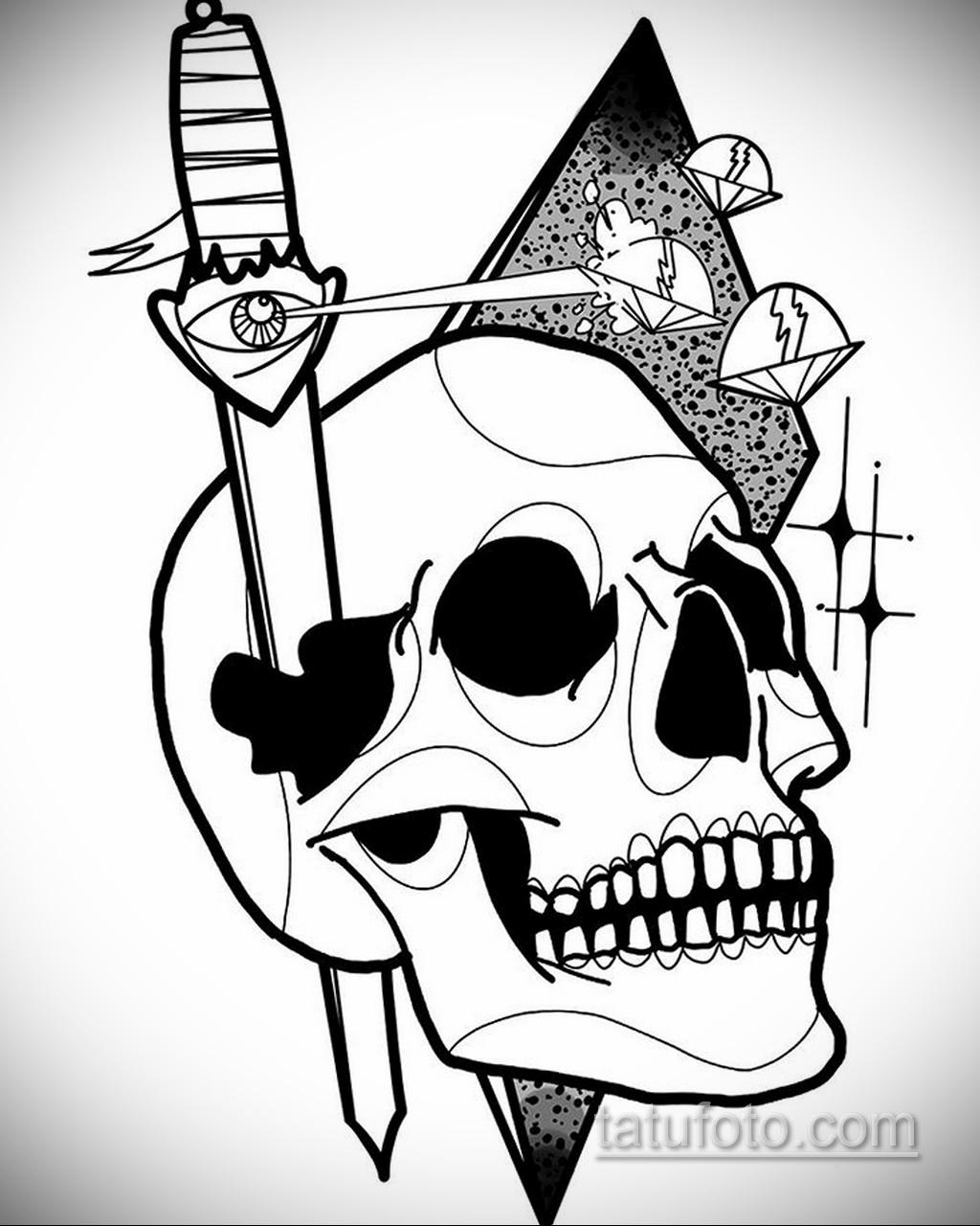 Фото пример классного эскиза для тату 05.09.2020 №080 -tattoo sketch- tatufoto.com