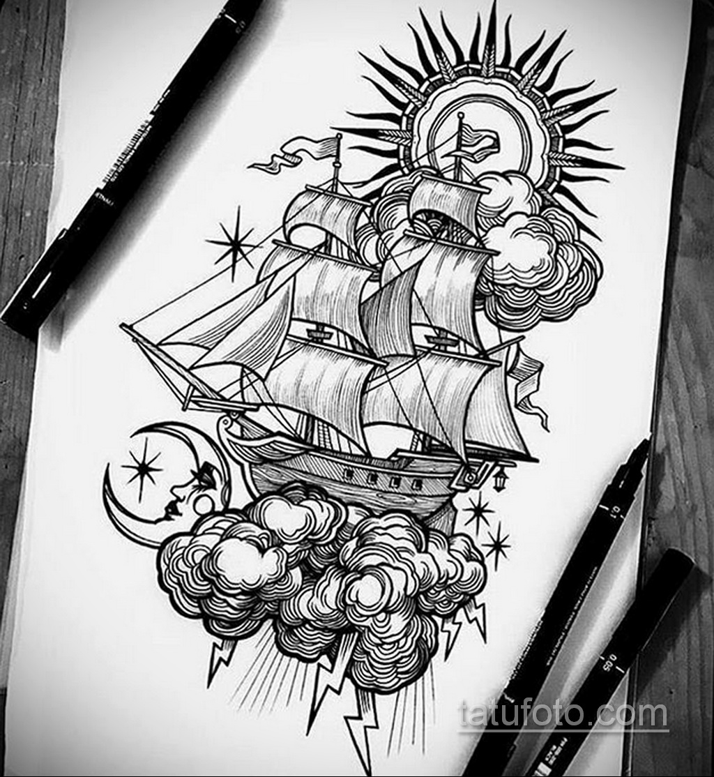 Фото пример классного эскиза для тату 05.09.2020 №084 -tattoo sketch- tatufoto.com