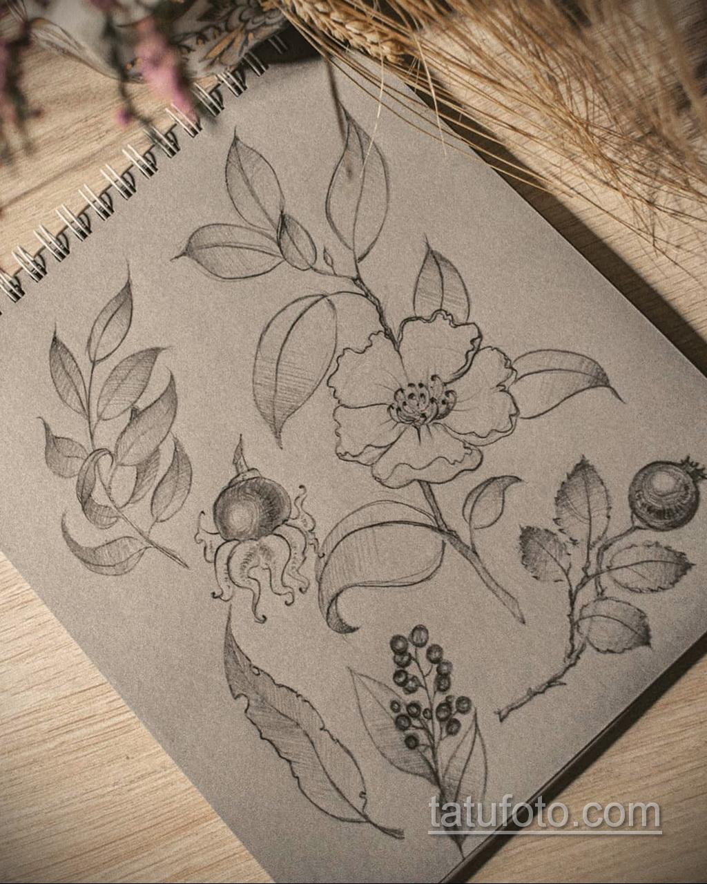 Фото пример классного эскиза для тату 05.09.2020 №094 -tattoo sketch- tatufoto.com