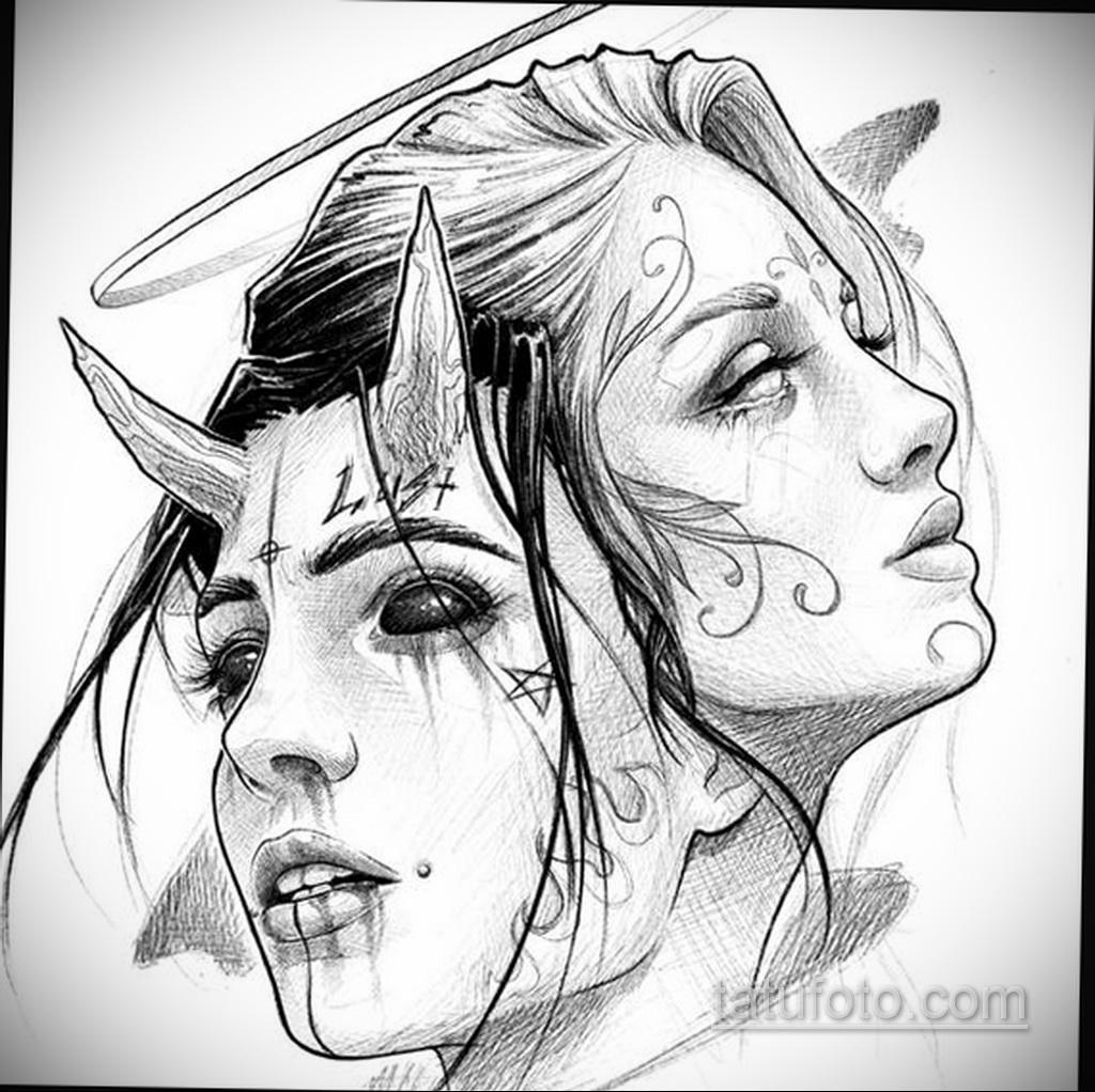 Фото пример классного эскиза для тату 05.09.2020 №159 -tattoo sketch- tatufoto.com