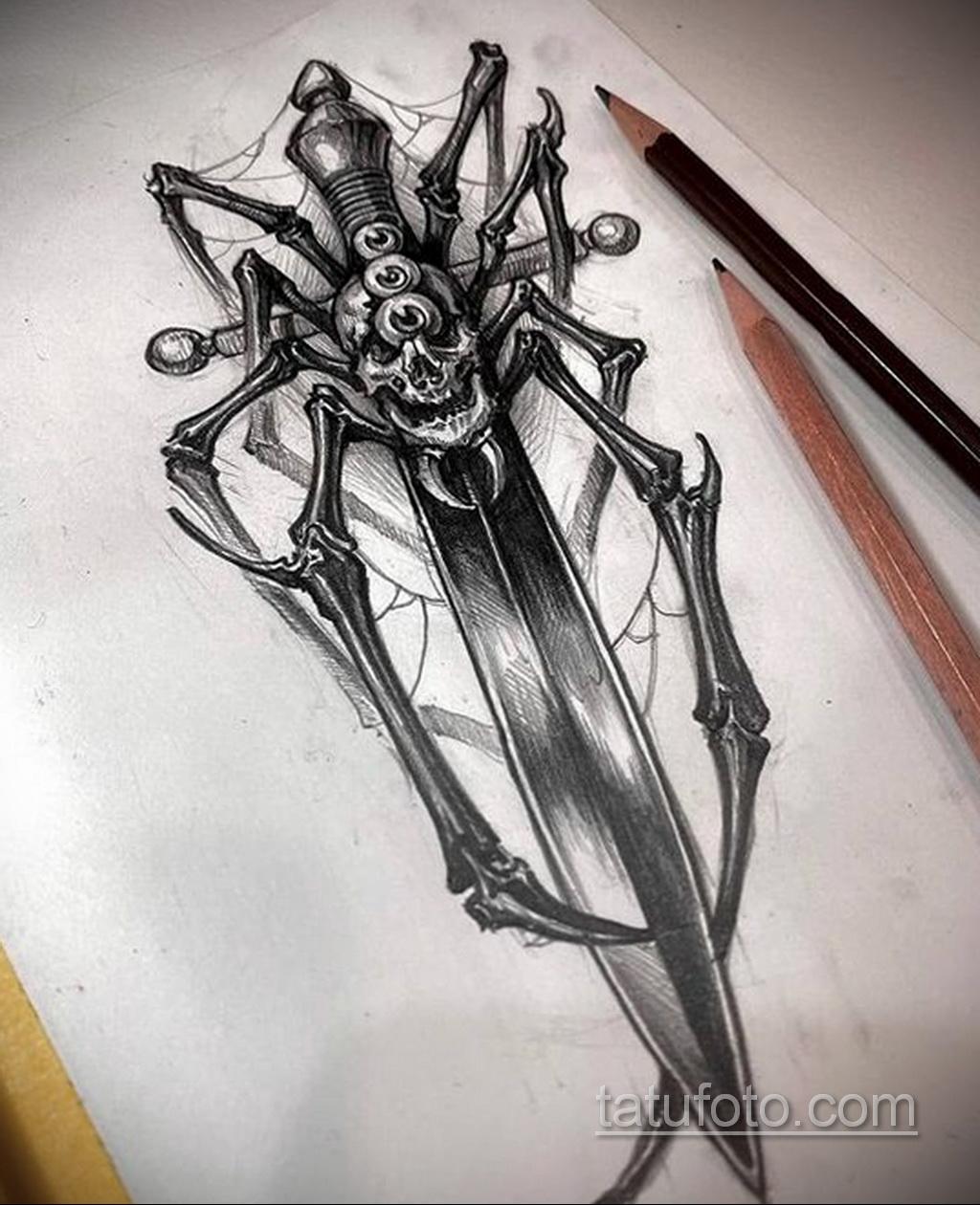 Фото пример классного эскиза для тату 05.09.2020 №171 -tattoo sketch- tatufoto.com
