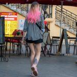 Цветастая татуировка с киской внизу ноги девушки – Уличная татуировка 14.09.2020 – tatufoto.com 1