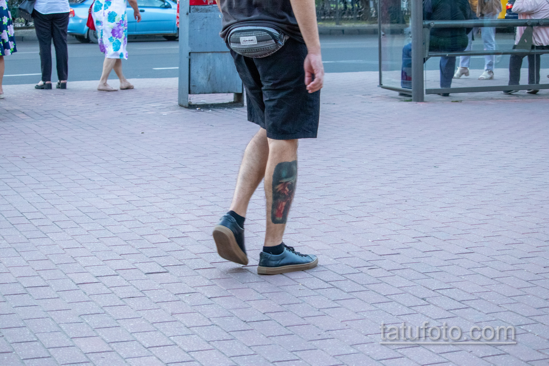 Цветная тату на икре и голени парня - Уличная татуировка 14.09.2020 – tatufoto.com 3