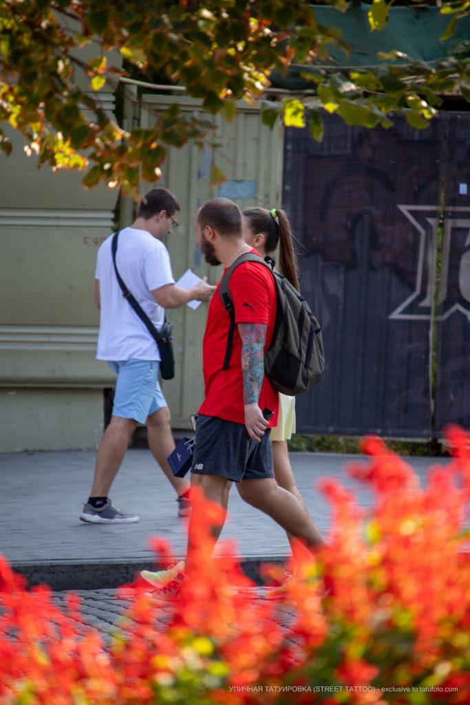 Цветная тату рукавом с русалкой штурвалом и осьминогом --Уличная тату-street tattoo-21.09.2020-tatufoto.com 6
