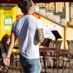 Цветной рукав тату с китами на руке азиата – Уличная татуировка (street tattoo)-29.09.2020-tatufoto.com 1
