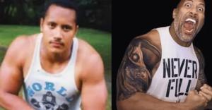 Дуэйн Джонсон (Скала) – до и после нанесения татуировок - фото 1
