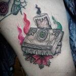 Рисунки татуировки с книгами магических заклинаний для ведьм - фото - tatufoto.com 2