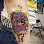 Рисунки татуировки с книгами магических заклинаний для ведьм - фото - tatufoto.com 3
