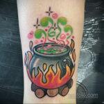 Рисунок татуировки с котлом ведьмы - фото - tatufoto.com 6