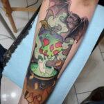 Рисунок татуировки с котлом ведьмы - фото - tatufoto.com 7