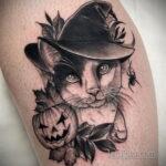 Рисунок татуировки с шляпой ведьмы или колпаком - фото - tatufoto.com 2