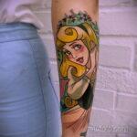 Татуировка с принцессой Авророй - фото 4