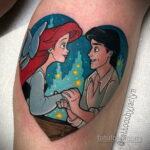 Татуировка с принцессой Ариэль – Русалочка - фото 2