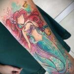 Татуировка с принцессой Ариэль – Русалочка - фото 5