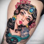 Татуировка с принцессой Жасмин – Аладдин - фото 5