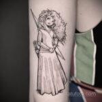 Татуировка с принцессой Меридой – Храбрая - фото 4