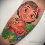 Татуировка с принцессой Моаной - фото 2