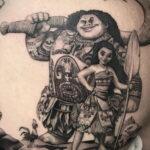 Татуировка с принцессой Моаной - фото 3