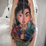 Татуировка с принцессой Мулан – Мулан - фото 6