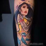 Татуировка с принцессой Покахонтас – Покахонтас - фото 3