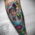Татуировка с принцессой Тианой – Принцесса и лягушка - фото 4