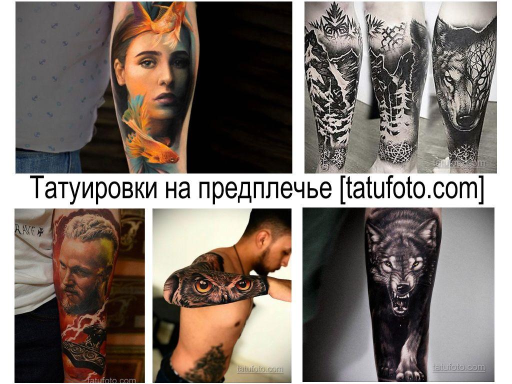 Татуировки на предплечье - фото примеры рисунков тату и интересные факты