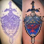 Тату из игры Легенда о Зельде 12.10.2020 №054 -The Legend of Zelda tattoo- tatufoto.com
