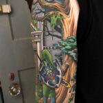 Тату из игры Легенда о Зельде 12.10.2020 №057 -The Legend of Zelda tattoo- tatufoto.com