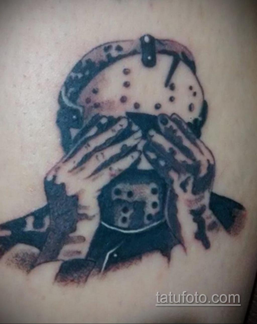 Тату из фильма ужосов про Джейсона 12.10.2020 №065 -jason tattoo- tatufoto.com