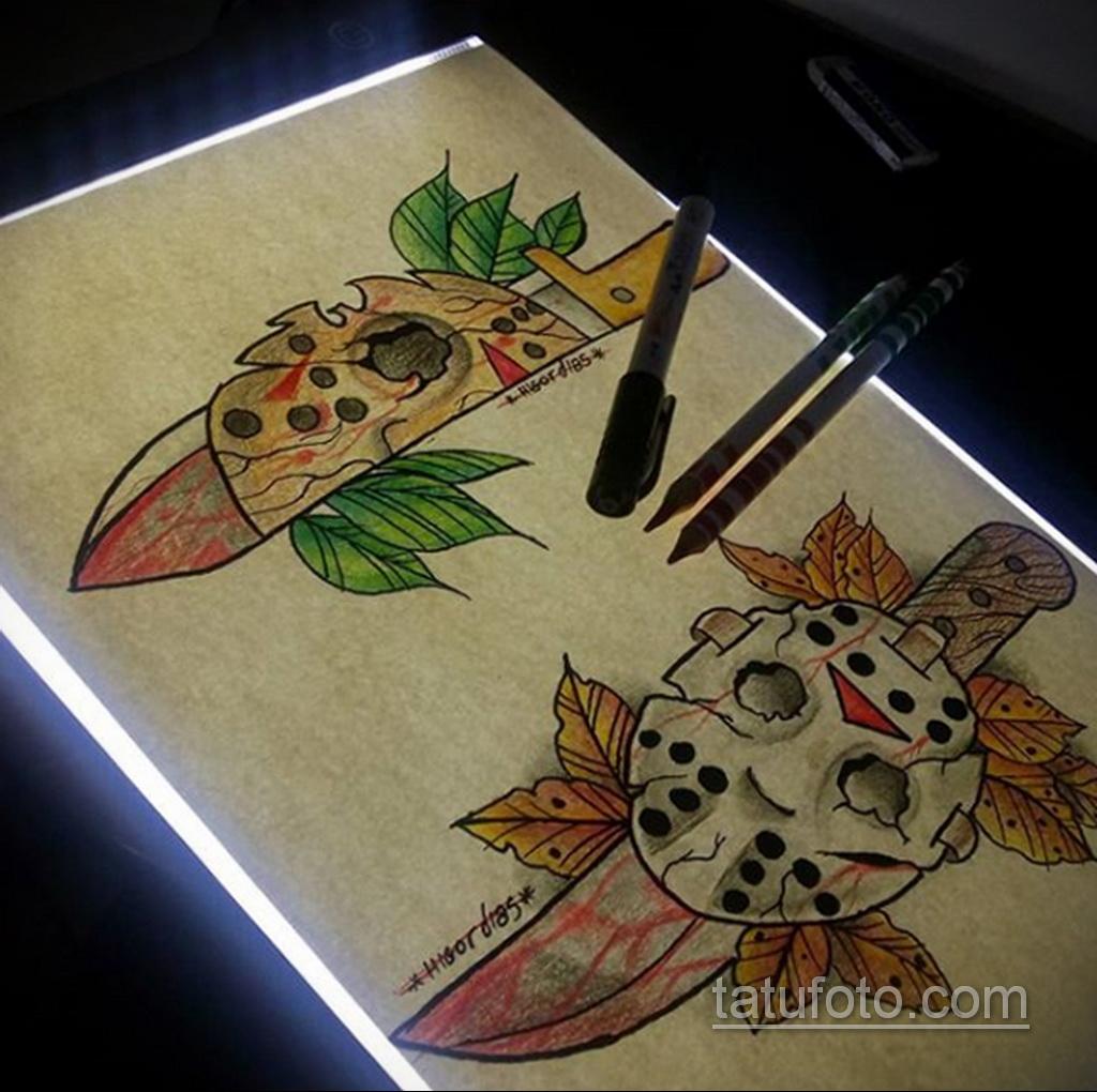 Тату из фильма ужосов про Джейсона 12.10.2020 №085 -jason tattoo- tatufoto.com