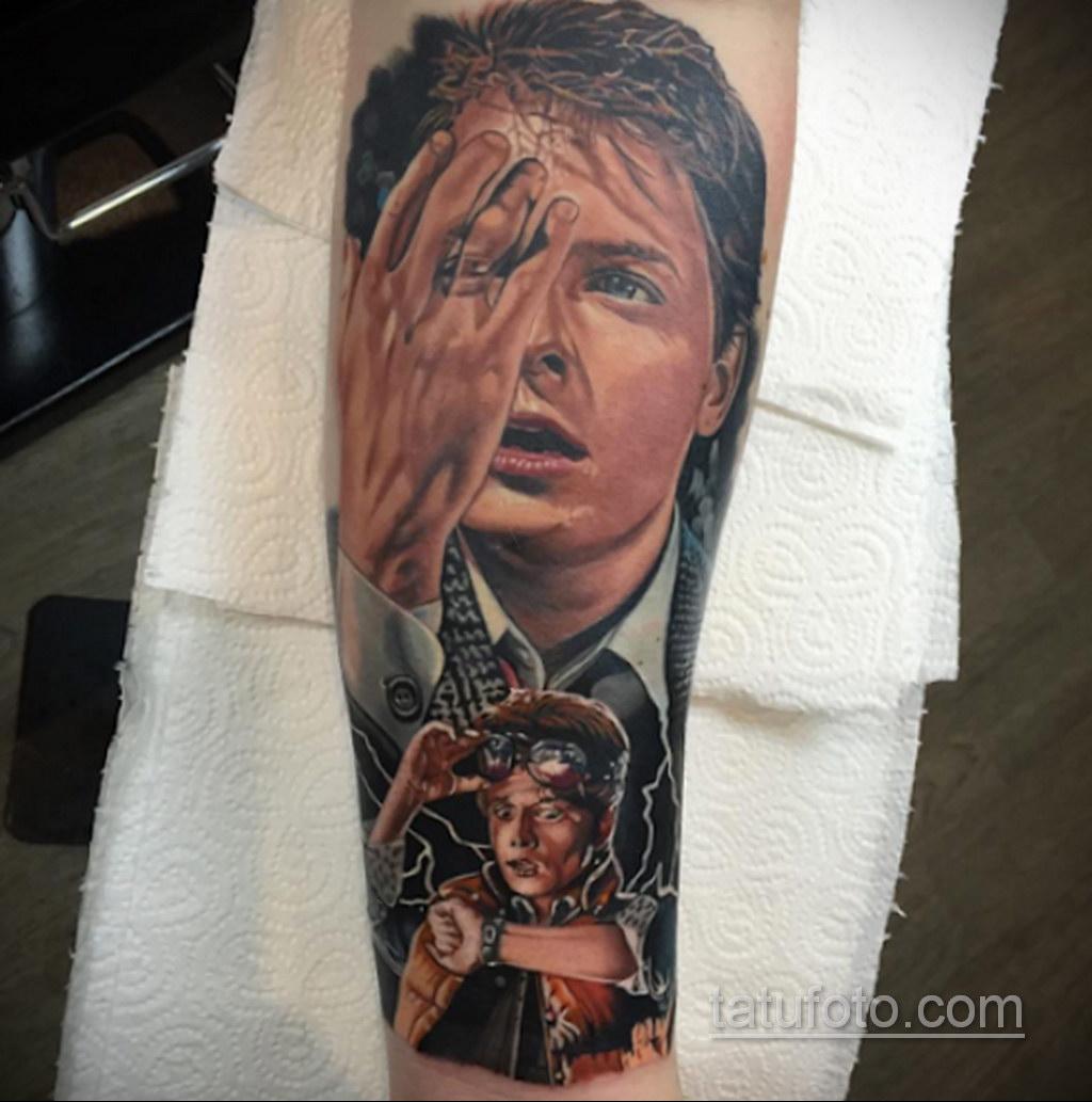 Тату фильм НАЗАД В БУДУЩЕЕ 26.10.2020 №192 -back to the future tattoo- tatufoto.com
