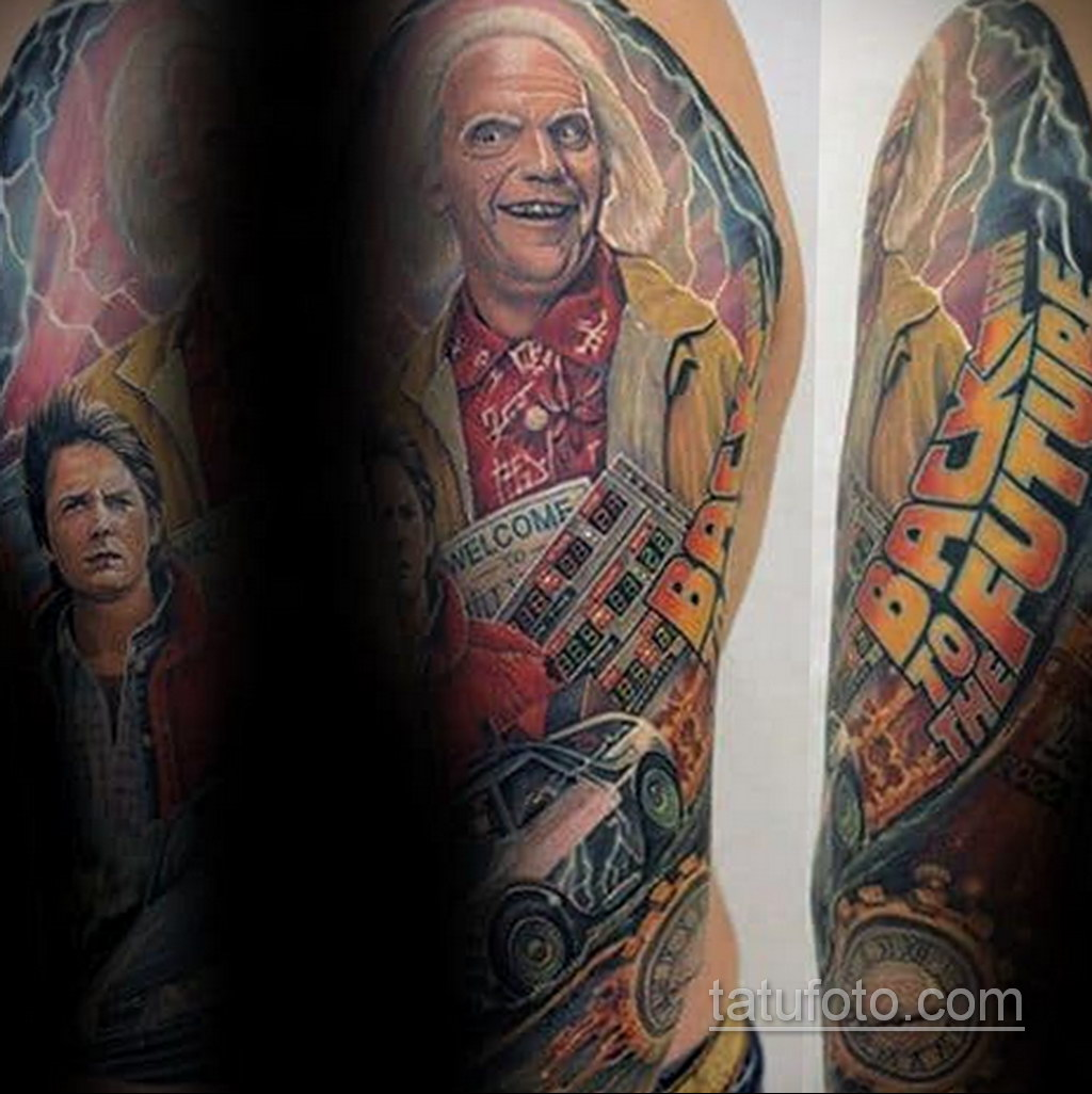 Тату фильм НАЗАД В БУДУЩЕЕ 26.10.2020 №199 -back to the future tattoo- tatufoto.com