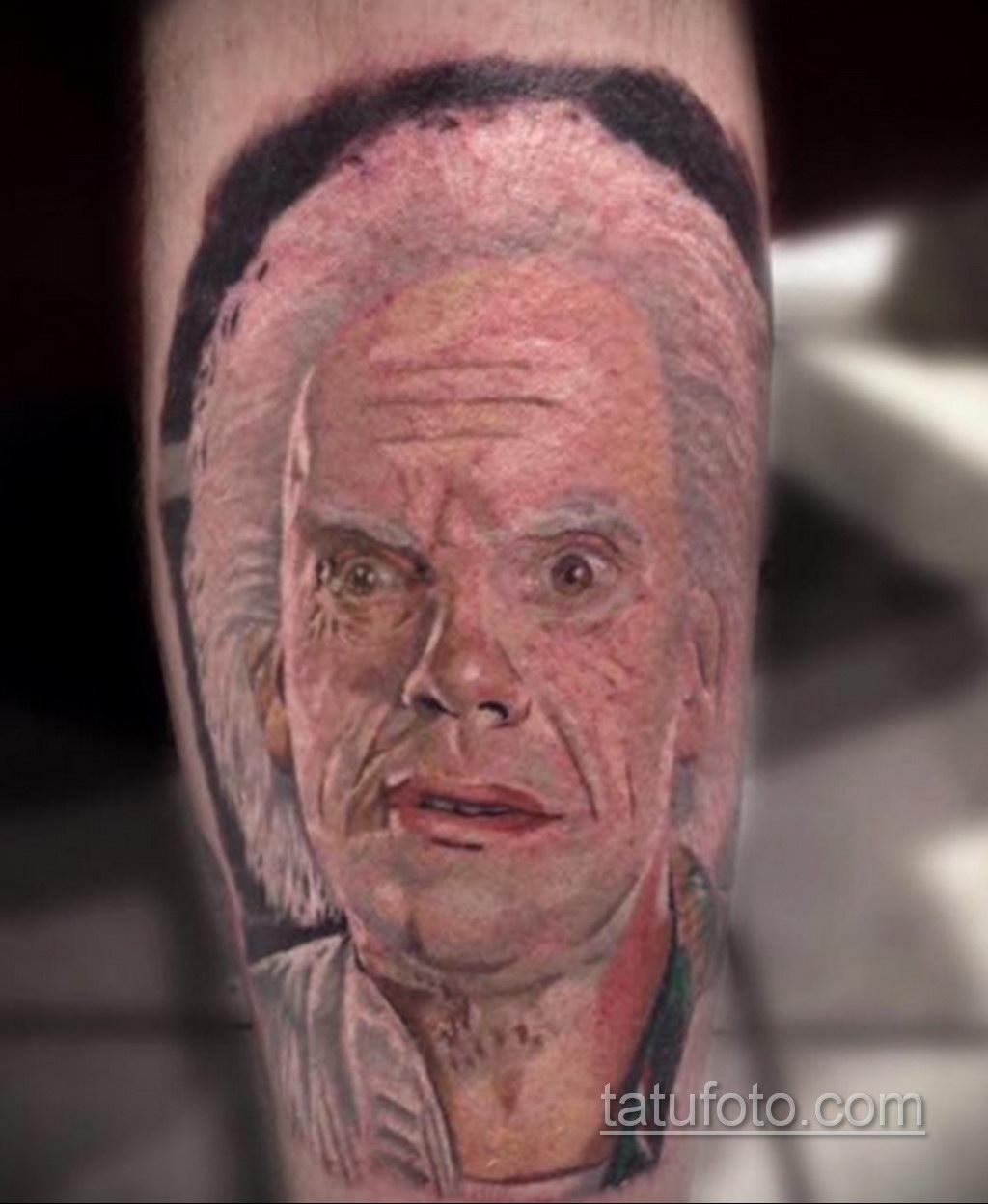 Тату фильм НАЗАД В БУДУЩЕЕ 26.10.2020 №213 -back to the future tattoo- tatufoto.com