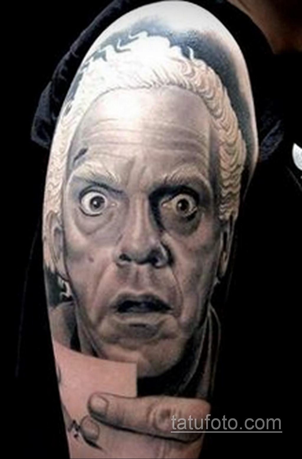 Тату фильм НАЗАД В БУДУЩЕЕ 26.10.2020 №214 -back to the future tattoo- tatufoto.com