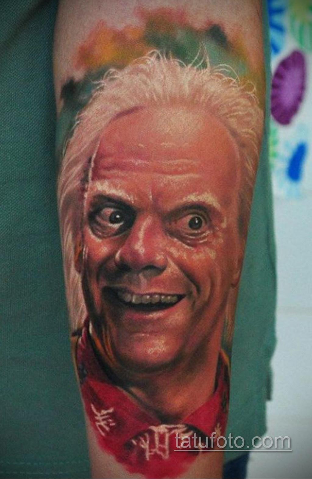 Тату фильм НАЗАД В БУДУЩЕЕ 26.10.2020 №218 -back to the future tattoo- tatufoto.com