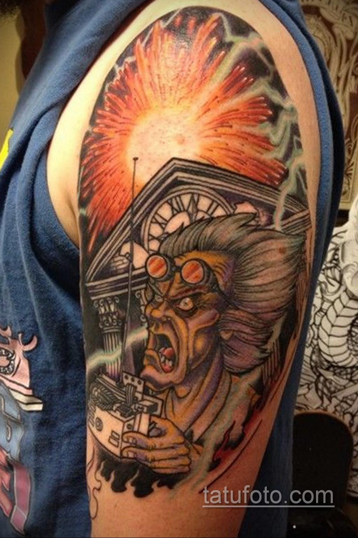 Тату фильм НАЗАД В БУДУЩЕЕ 26.10.2020 №219 -back to the future tattoo- tatufoto.com