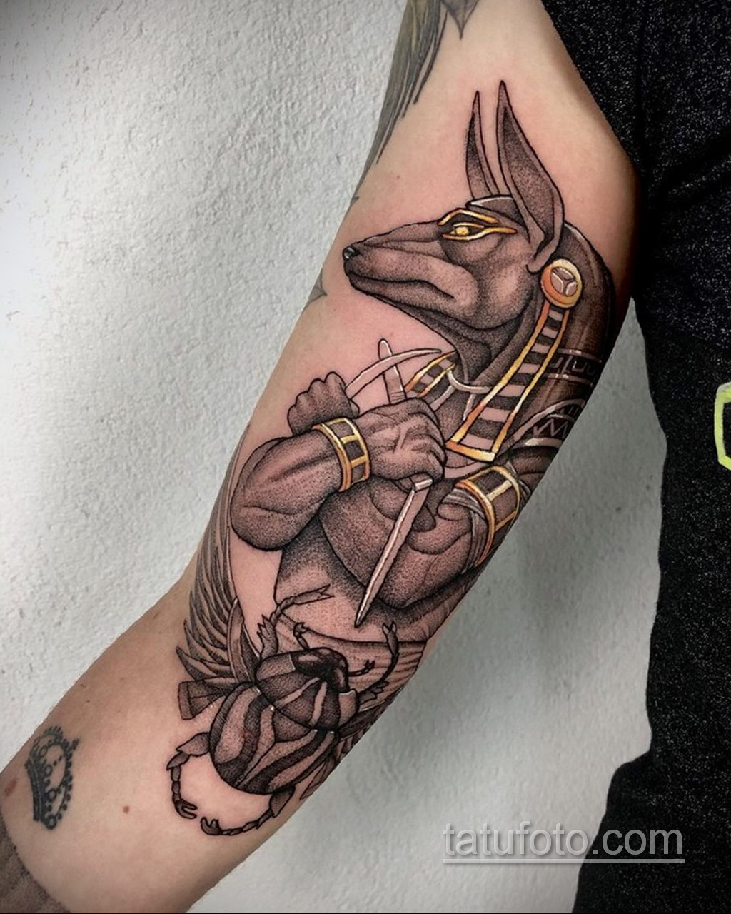 Фото анубис тату на предплечье 25.10.2020 №011 -forearm tattoo- tatufoto.com