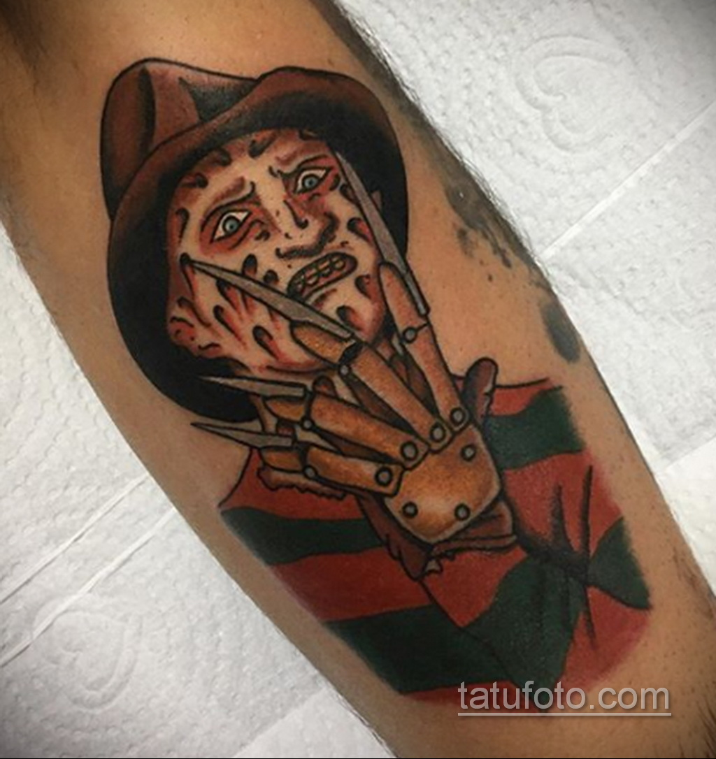 Фото тату с Фредди Крюгером 12.10.2020 №003 -freddy krueger tattoo- tatufoto.com