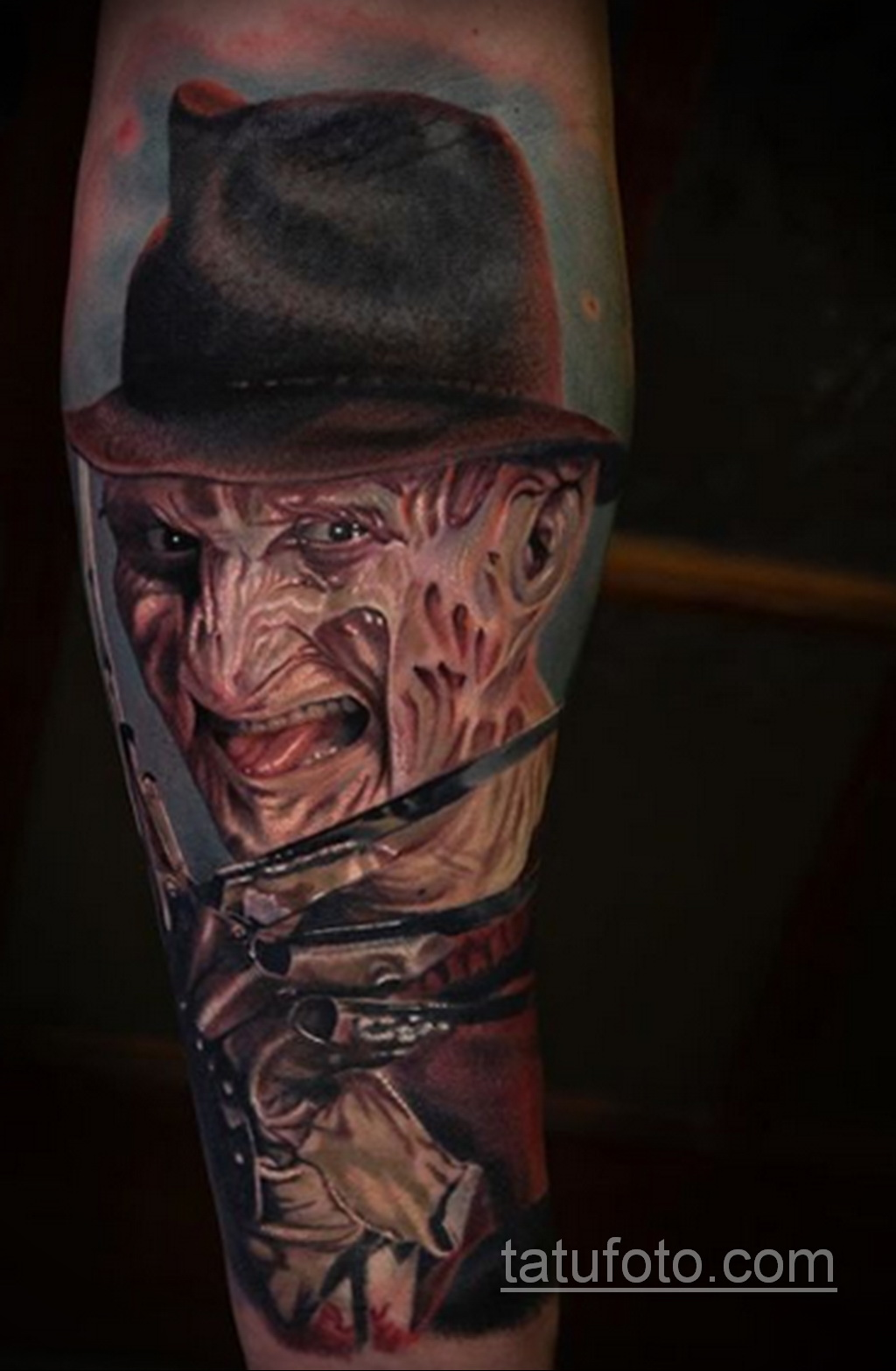 Фото тату с Фредди Крюгером 12.10.2020 №005 -freddy krueger tattoo- tatufoto.com