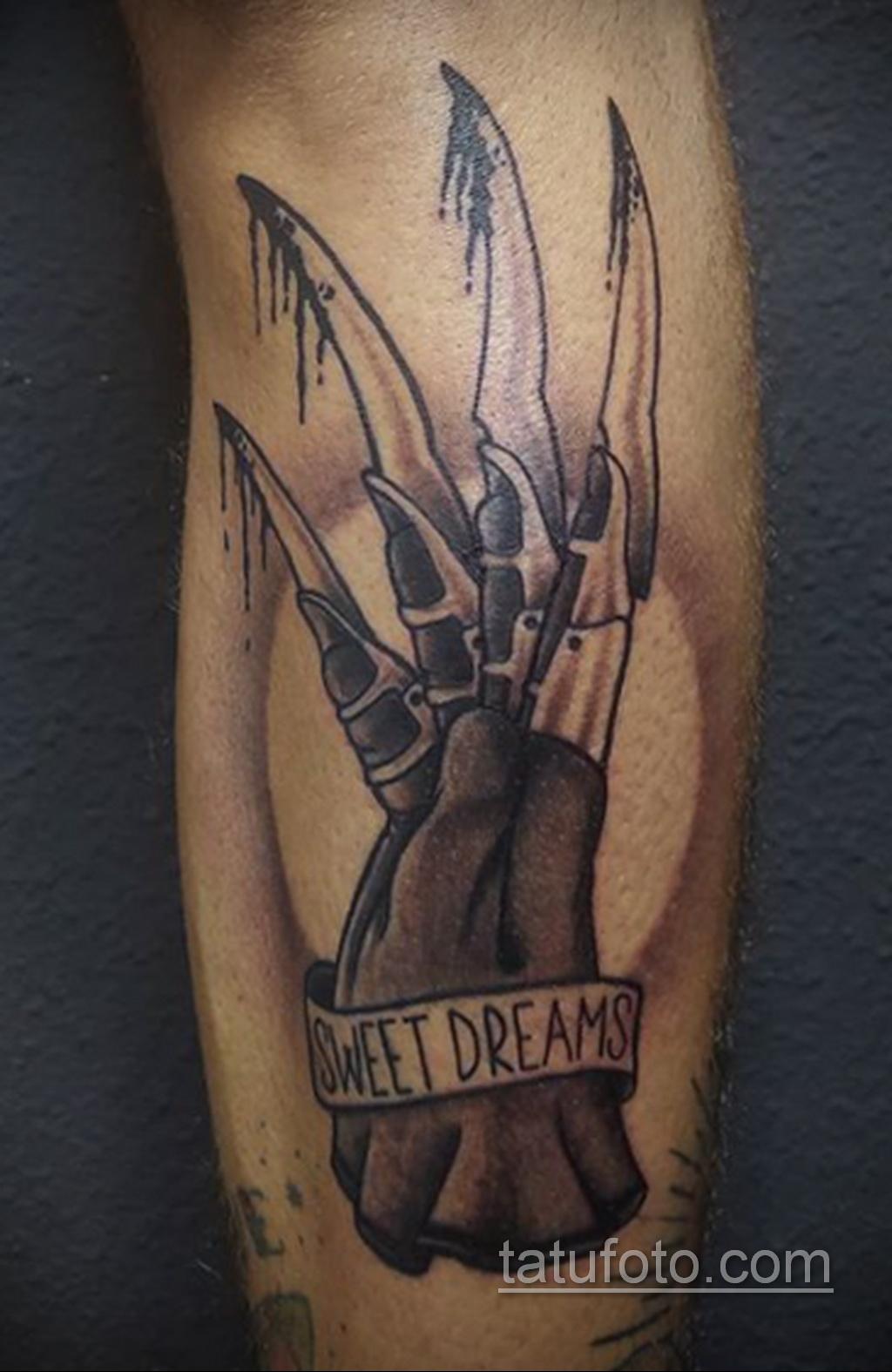 Фото тату с Фредди Крюгером 12.10.2020 №010 -freddy krueger tattoo- tatufoto.com