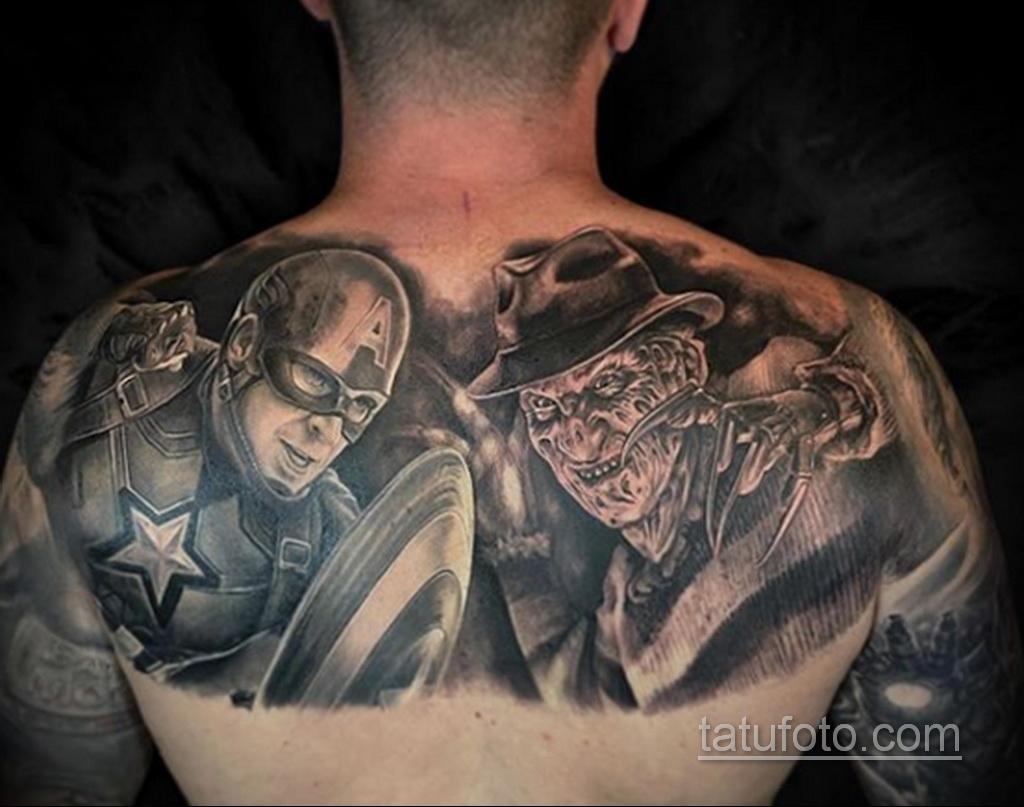 Фото тату с Фредди Крюгером 12.10.2020 №014 -freddy krueger tattoo- tatufoto.com
